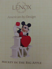 Lenox Disney Showcase Collection Mickey In The Big Apple I Love NY Figurine COA