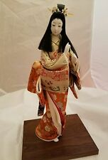 "Geisha Girl Japanese Gofun  Doll On Stand   - 15""  - INCREDIBLE"