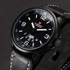 Reloj Sumergible Hombre Deportivo Analogico Fecha Militar Cuero Cuarzo Pulsera