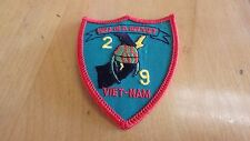 WW II US Marine Corps 2nd Battalion 9th Marines Hell in a Helmet Vietnam Patch