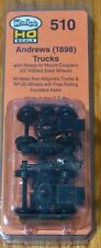 "Kadee HO Scale #510 Andrews Trucks & Couplers 33"" Wheels Ribbed Backed"