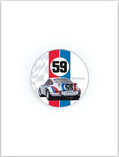 59 Brumos 911 Car Decal. Porsche Sticker Car Decal