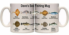 SEA FISHING SPECIES PERSONALISED MUG WITH NAME (SP11) OTHER MUGS AVAILABLE