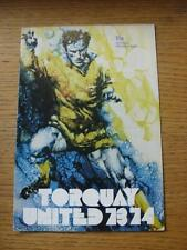 29/08/1973 Torquay United v Plymouth Argyle [Football League Cup] (No apparent f