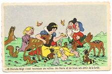 CPA BLANCHE NEIGE ET LES 7 NAINS N° 21