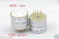 2piece*Gold plated 6u8A(Adapter top) TO 7199 tube CONVERTER ADAPTER