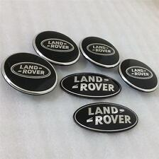 LAND ROVER DISCOVERY 3 SUPERCHARGED BLACK WHEEL CENTRE CAP GRILL BACK BADGE KIT