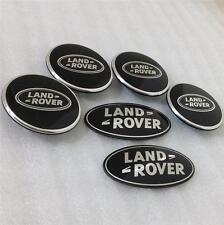 Land rover discovery 3 suralimenté noir wheel centre cap grill back badge kit