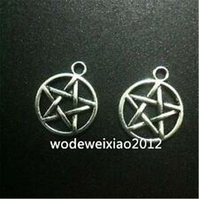15pc Retro Tibetan Silver pentagram Charm Beads Pendant Findings wholesale JP525