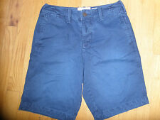 * Mens or Boys Sz 28 Abercrombie & And Fitch Navy Blue Casual Shorts 100% Cotton