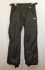FOURSQUARE WOMEN'S SNOWBOARD PANTS XS X-SMALL PINSTRIPE CHARCOAL SNOW WINTER