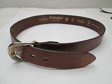 - AUTHENTIQUE  ceinture  WRANGLER  cuir  BEG  vintage  à saisir