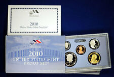 2010-s U.S. 14 Coin Proof Set.  Complete and Original in BLUE  mint paper box