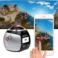 16GB Campark WIFI 3K/30fps Sport Action Camera Panoramic View 360° w/VR Glasses