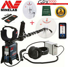 MINELAB GPX 5000 GOLD PROSPECTING Metal Detector + 2 SEARCH COILS -- 3 YR WARR