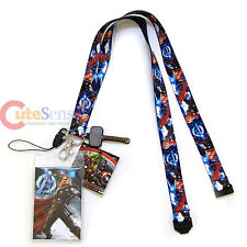 Marvel Avengers Thor Lanyard Keychain ID Holder with Charm Dangle