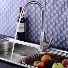"""New Stainless Steel Hot&Cold Mixer Water Tap Basin Wash Faucet + Two 23.6"""" Hose"""