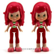 "Lot 2 Toys Strawberry Shortcake Doll 3"" Action Figure Baby Kids Gift 2008 FK195"