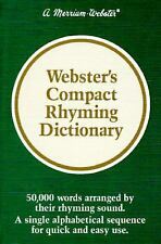 Webster's Compact Rhyming Dictionary Merriam-Webster Hardcover