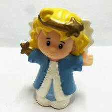 Fisher-Price Little People ANGEL GOLD HALO SHEPHERD  CHRISTMAS NATIVITY Girl Toy