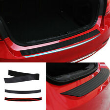 Rear Bumper Rubber Protector Sill Plate Scratch Guard Trunk Pads Guard Black New