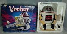 "Vintage 1984 Tomy Verbot Voice Commands Robot w Box 9"" Battery Operated Remote"