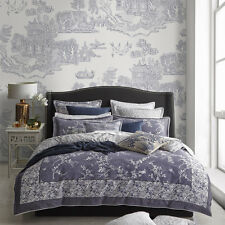 FLORENCE BROADHURST ORIENTAL DENIM Queen Size Bed Doona Duvet Quilt Cover Set