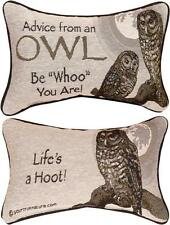 Advice From A Owl ~ True Nature Tapestry Word Pillow