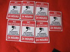 VIDEO SURVEILLANCE Security Decal  Warning Sticker (no trespassing )set of 7 pcs
