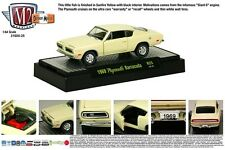 1:64 M2 Machines DETROIT-MUSCLE 25 = Yellow 1969 Plymouth Barracuda *NIB*