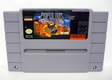 POPULOUS Super Nintendo SNES Game CLEANED & TESTED 1991