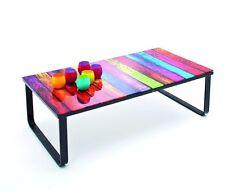 Couchtisch Rainbow Beistelltisch Glastisch bunt Tisch Loungetisch