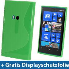 Grün Zweiton TPU Tasche für Nokia Lumia 920 Windows Kristall Gel Hülle