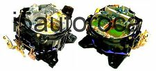SET OF 2 MARINE CARBURETORS 4BBL ROCHESTER QUADRAJET4MV 7.4L 454 ENG MERCRUISER
