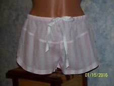 Victorias Secret Cotton Blend Pink StripeTap Shorts Size XS NWT
