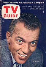 1955 TV Guide January 22-Ed Sullivan; Disney Adventureland; Norman Vincent Peale