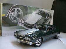 1:18 GMP 1970 RESTOMOD CHEVROLET CHEVELLE STREET FIGHTER GREEN SILVER G1804301