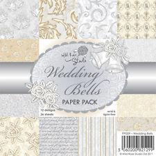 Wild Rose Studio 6x6 Scrapbook Paper - 12 Sheets - Wedding Bells Vintage Florals