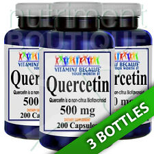 Quercetin 500mg 3X200 Capsules (Quercetin Dihydrate) by Vitamins Because