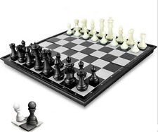 Magnetic chess,black & white pieces chess,Folding magnetic board,foldable board