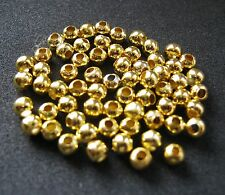 50 X 4MM GOLD BEADS FOR FLY TYING, RIG TACKLE