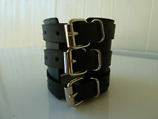 Mens/Womens leather Biker/Skull/Gothic/ quality black bracelets/wrist band, NWT