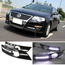 LED DRL Daytime Running Light w Grill Set For VW Volkswagen Passat B6 2006-2009