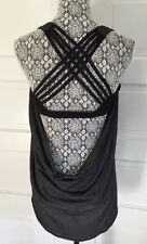 *SOLD OUT* LULULEMON Wild Tank Top Women's Sz 12 Black Gray Strappy EUC