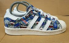 RARE ADIDAS SUPERSTAR 80's NIGO PIONEER TRAINERS IN SIZE 9 UK EXCELLENT