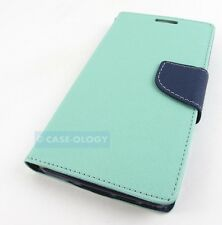 MINT GREEN BLUE FLIP JACKET WALLET POUCH CASE COVER SAMSUNG GALAXY NOTE III 3