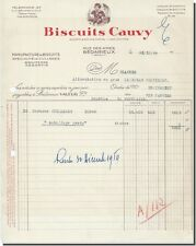 Invoice - Biscuits Cauvy Manufacture biscuits à Bédarieux 1954