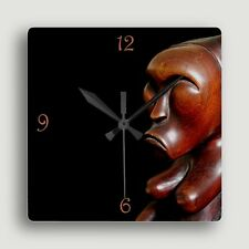 Fang Byeri Figure ~ SQUARE WALL CLOCK / Compelling African Art Design