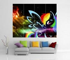 RAINBOW MY LITTLE PONY FRIENDSHIP IS MAGIC GIANT WALL ART  PRINT POSTER H19