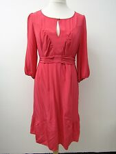 BNWT Stunning Pure Silk Boho Style Red Dress by Monsoon Size 20. RRP £68